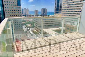 A luxury apartment with an open view On Rothschild Boulevard.