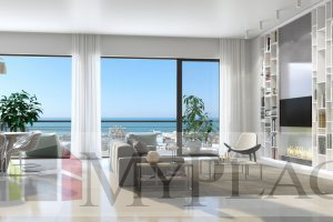 An apartment with a view of the sea
