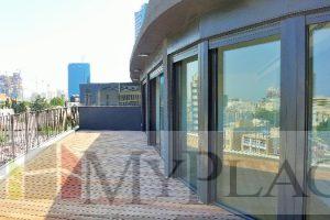 A renovated penthouse