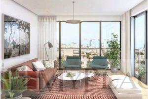 דירה חדשה עם מרפסת בלב העיר